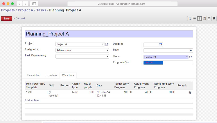 ERP Construction Management System